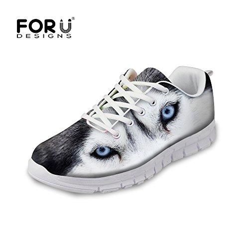 Pour U Conceptions Mode Tigre Loup Animal Style Hommes Et Femmes Léger Mesh Chaussures De Course Husky