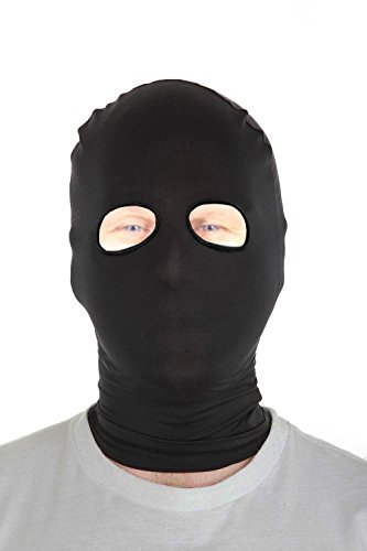 Collectible Halloween Masks (Marvoll Lycra Spandex Eyes Holes Hood Mask Halloween Costumes (Kids, Black))