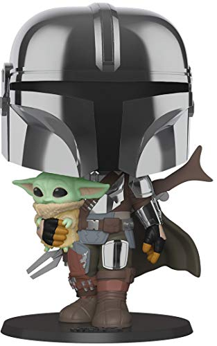 Funko- Pop Star WarsMandalorian-10 Mandalorian (w/Chrome Armour) Figura Coleccionable, Multicolor (49931)