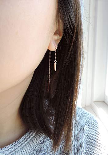Shanghai Thread-Through Earrings In Rose Gold