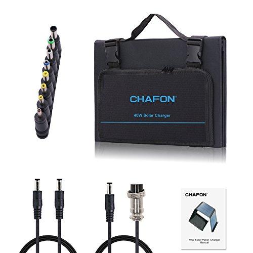 Chafon40W/0.053HpUniversalFoldingSolarPanelsChargersMono-Crystallinewith18VAviationDCOutputforBatteryUPSandUSB5V/2APort by CHAFON (Image #5)