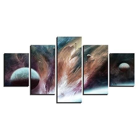 HD Imprime Fotos Wall Art 5 Piezas Planetas Galaxia Nebulosa ...