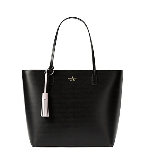 Kate Spade New York Wright Place Karla Shoulder Leather Handbag Black  W Plum Dawn Tassle