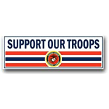US Marine Support Our Troops Decal Sticker 9""