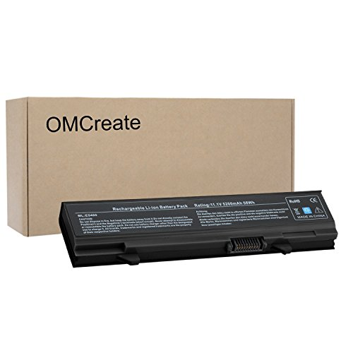 OMCreate New Laptop Battery for Dell Latitude E5410 E5500 E5400 E5510 Series, fits P/N KM742 WU841 T749D - 12 Months Warranty [Li-ion 6-Cell] by OMCreate
