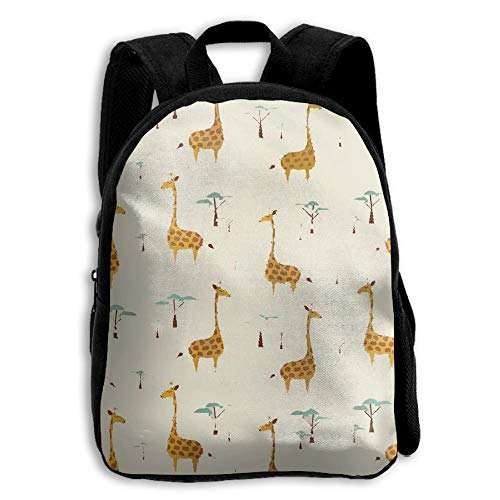 Nature Style Giraffes Kids Backpack,School Bag Student Casual Nylon Backpack for Primary School Students]()