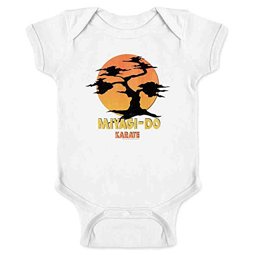 Karate Kid Miyagi-Do Dojo Bonsai Sunset Costume White 6M Infant Bodysuit -
