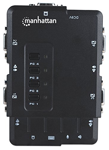 Manhattan 4Port Compact KVM Switch USB Audio with Cables (151269) by Manhattan Products (Image #4)