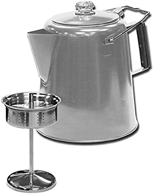 Amazon.com: Acero inoxidable Percolator Café – 28 Taza de ...