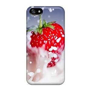 Iphone 5/5s Yummy Yummy Strawberries Print High Quality Tpu Gel Frame Case Cover