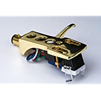 Gold plated Headshell, mount, cartridge, needle for SANYO TP600SA, TP625, TP727, TP728, TP747, TP80S, TP1000, TP1020, TP1200, TP825D, - MADE IN ENGLAND