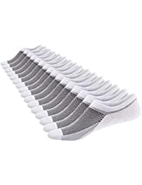 Mens 8 Pairs No Show Socks Odor-Resistant Cotton Non Slip Low Cut Invisible Socks