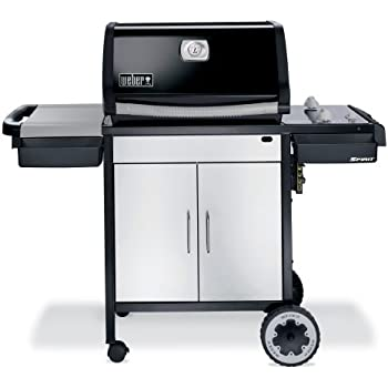 weber 3711001 spirit e 210 propane gas grill black garden outdoor. Black Bedroom Furniture Sets. Home Design Ideas