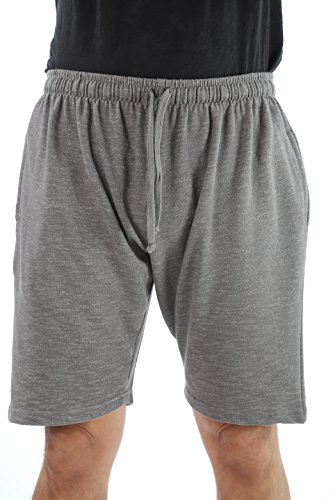 At The Buzzer Men's Sweat Shorts Sleepwear PJS 14502-GRY-XXXL by At The Buzzer