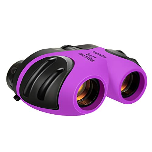 Gifts Girl Age 3-12, TOP Gift Compact Binocular for Kids Toys for 3-12 Year Old Girls Boys 2019 New Gifts for 3-12 Year Old Boys Stocking Fillers Purple -