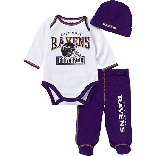 Baltimore Ravens Baby Bodysuit Footed