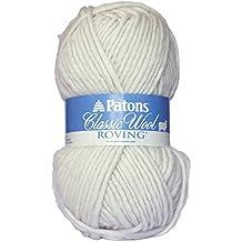 Patons  Classic Wool Roving Yarn - (5) Bulky Gauge 100% Wool - 3.5oz -  Aran -   For Crochet, Knitting & Crafting