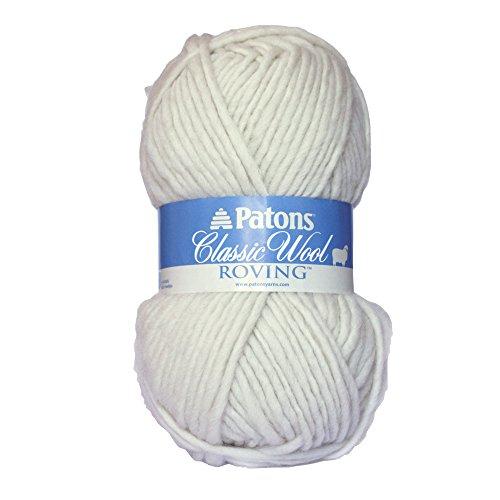 Classic Merino Wool Yarn (Patons Classic Wool Roving Yarn, Aran)