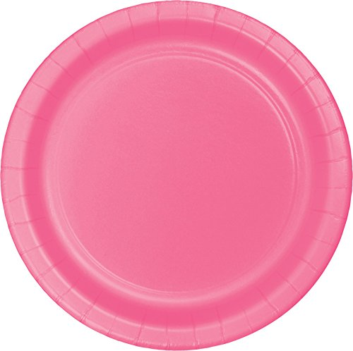 Creative Converting Touch of Color 24 Count Paper Lunch Plates, Candy Pink