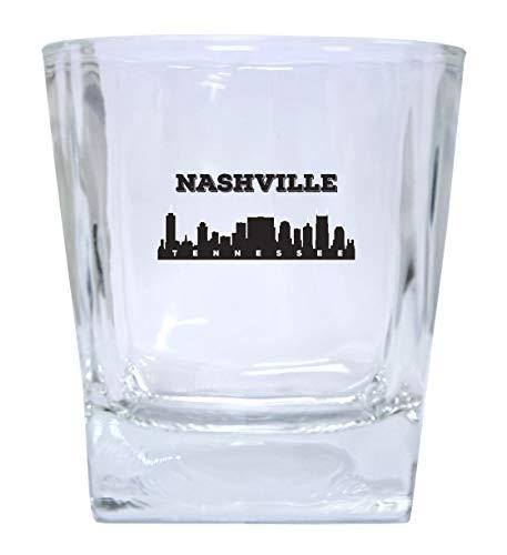 Nashville Tennessee Music City Trendy Souvenir Whiskey Glass Set of 2