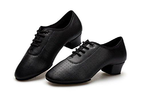 Tango Four - Gogodance Girl's/Toddler Black Dance Shoes Little Kid's Dancing Sneakers for Latin Ballroom Jazz Tango (3.5M/34)