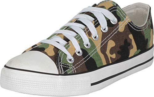S-3 Women's Low Top Classic Canvas Fashion Sneaker (9 B(M) US, Camo ()