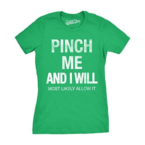 Crazy Dog TShirts - Womens Pinch Me I Will Like It Funny Lucky Irish St. Patrick's Day T shirt - Camiseta Para Mujer