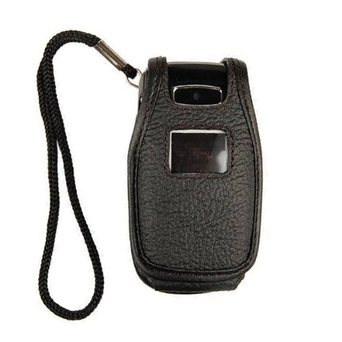 (Technocel Fitted Leather Case for LG CE110 - Black)