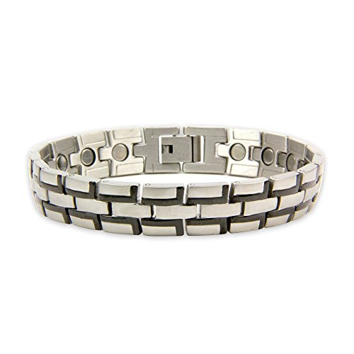 magnets4 Pulsar Men's Rare Earth Magnetic Bracelet with Fold Over Clasp by magnets4
