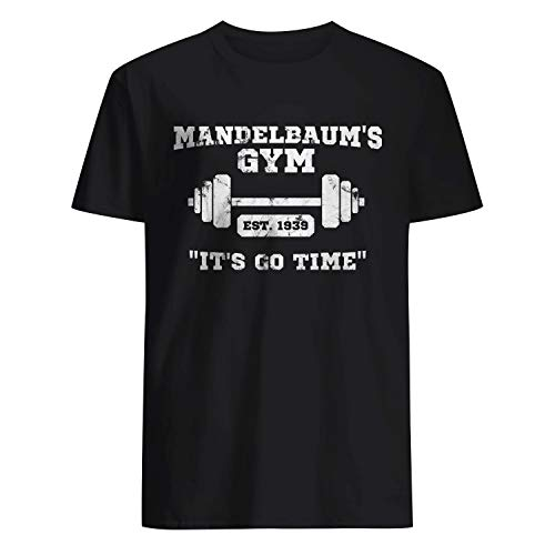 USA 80s TEE Mandelbaum's Gym It's Go Time Shirt Black]()