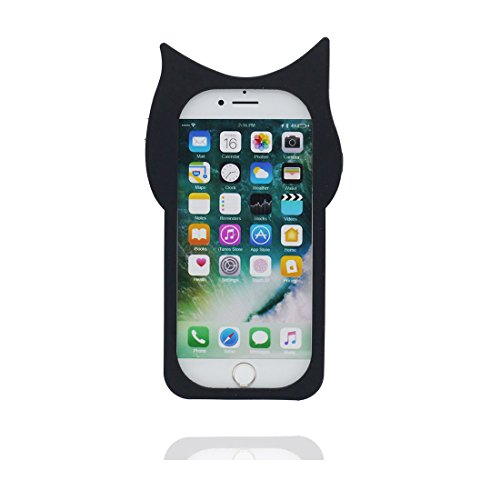 iPhone 7 Plus Coque, Housse Étui pour iPhone 7 Plus, 3D chat Cover TPU Material Flexible iPhone 7 Plus Case (5.5 pouces), Résistant aux rayures et ring Support de téléphone