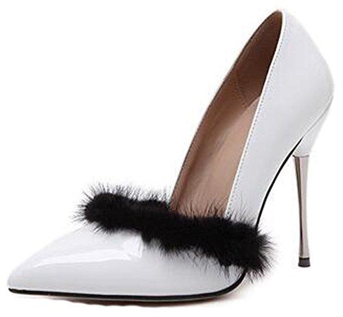 Sandalo Con Cinturino Alla Caviglia Con Punta A Punta E Cinturino Alla Caviglia In Pelle Liscia Elegante