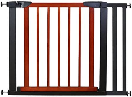Fairy Baby Pet & Baby Gate Narrow Extra Wide for Stairs Metal and Wood Pressure Mounted Safety Walk Through Gate,Height 29 inch,Fit Spaces Between 35.04
