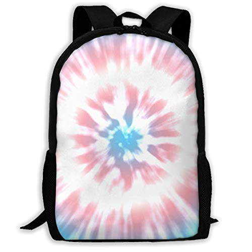 Backpack, Transgender Color Tie Dye School Backpack for Women Men, 600D Oxford Cloth College Student Rucksack Fits 15.6 Inch Laptop and Notebook, Daypack for Travel Outdoor Camping