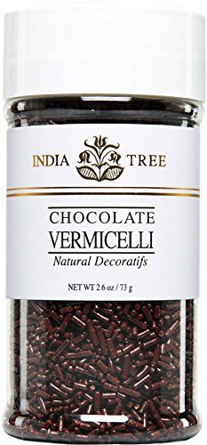 Sprinkles Chocolate Jimmies - India Tree Chocolate Vermicelli, Natural, 2.6 Ounce