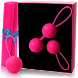 Ben Wa Kegel Exercise Balls – Kegal Weights Beginner Advance – Doctor Recommended Bladder Control Training Kit, Women Pelvic Floor Exercisers, Vaginal Tightening, Post Pregnancy Recovery Sexual Health