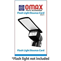 Omax Flashlight Bounce Card (2 in 1)