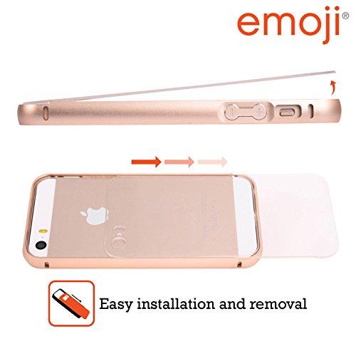 Officiel Emoji Lapin Pâque Or Étui Coque Aluminium Bumper Slider pour Apple iPhone 5 / 5s / SE