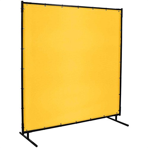 Steiner 529-6X10 Protect-O-Screen Classic Welding Screen with 13-Ounce Vinyl Laminated Polyester Curtain, Yellow, 6' x 10'