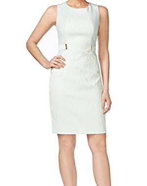 Womens Slub Sleeveless Wear to Work Dress