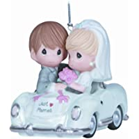Precious Moments Just Married Bisque Porcelain Ornament Figurine