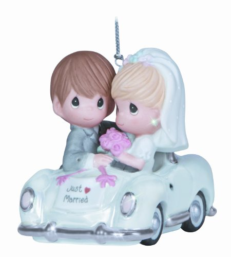 "Precious Moments, Christmas Gifts, ""Just Married"", Bisque Porcelain Ornament, #131008 - Groom Christmas Ornament"
