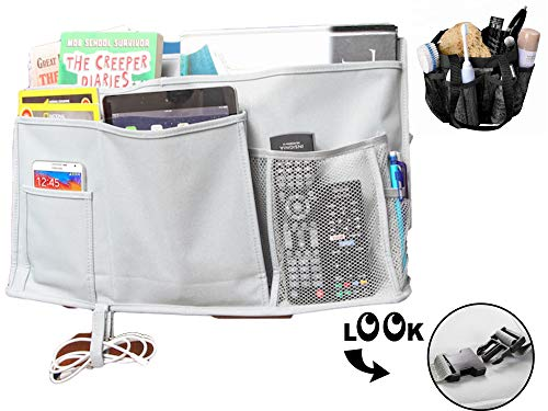 Availe Bedside Caddy and Shower Tote Caddy Bundle Hanging Storage Organizer for Books, Phones, Tablets, Accessories, College Dorm Room Essentials