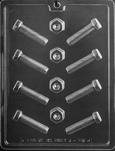 Grandmama's Goodies J113 Nut and Bolt Chocolate Candy Soap Mold with Exclusive Molding Instructions