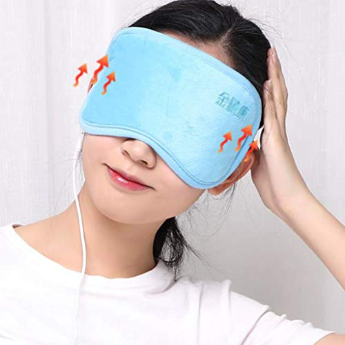 Heated Eye mask Eye Massage Instrument Eye Protector Vision Dark Circles Eye Bags to Soothe Fatigue Relieve Thermal mask (Color : Blue, Size : 2411cm/94inch) by Eye Protection Accessories (Image #2)