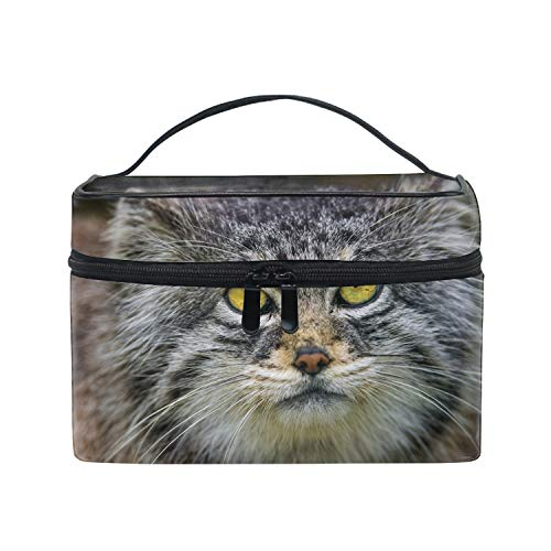 Large Capacity Cosmetic Makeup With Belt Strap Holder Multifunctional Makeup Bag for Travel Home (Pallas Cat Head)