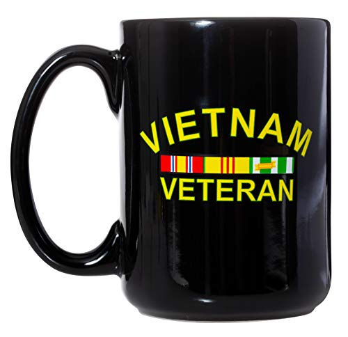(Vietnam Veteran United States Military Gift Mug - 15oz Deluxe Double-Sided Coffee Tea Mug )