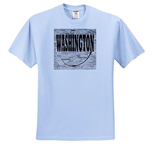 3dRose RinaPiro - US States - Washington. State Capital Is Olympia. - T-Shirts - Toddler Light-Blue-T-Shirt (4T) - State Washington Capital Olympia Of