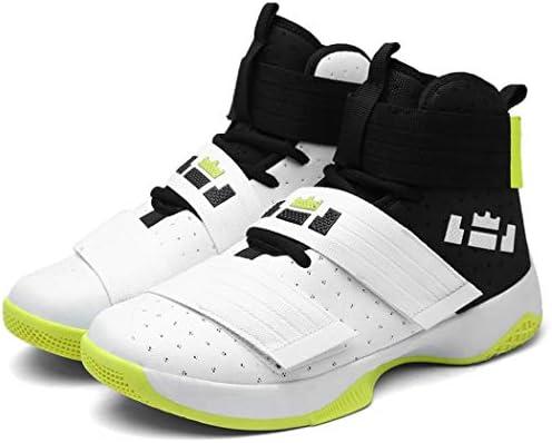 Men Basketball Shoes High Top Hook Loop Running Sport Sneakers Shock Absorbing