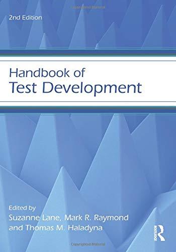 - Handbook of Test Development (Educational Psychology Handbook)